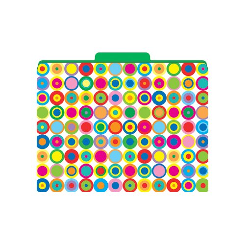 Barker Creek & Lasting Lessons Functional File Folders Disco Dots, 12-Pack