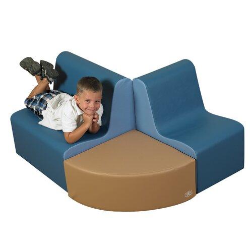 The Children's Factory 3 Piece Kids School Age Contour Seating Set