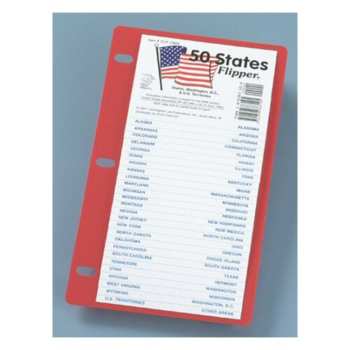Christopher Lee Publications The 50 States Flip Up Study Guide