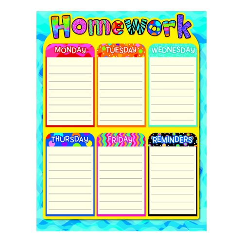 make homework chart