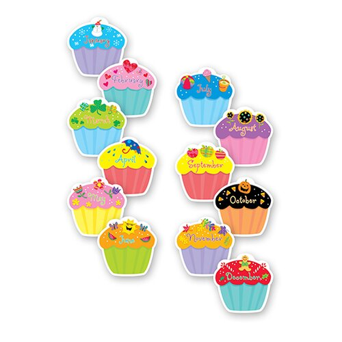 Creative Teaching Press Cupcakes Designer Cut Outs