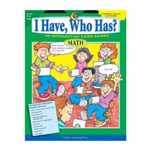 Creative Teaching Press Math Gr 5-6 I Have Who Has series