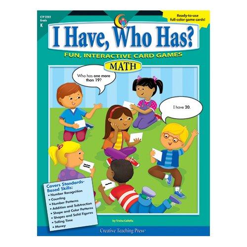 Creative Teaching Press I Have Who Has Math Gr K