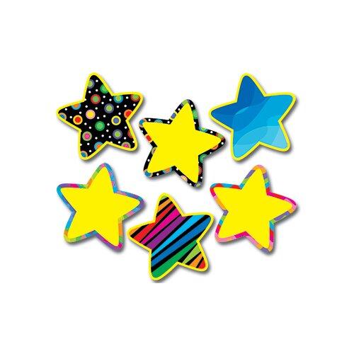 Creative Teaching Press Poppin Pattern Stars Jumbo Cut Outs