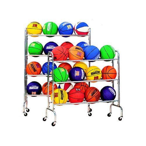 Dick Martin Sports 4 Tier Portable Ball Rack Holds