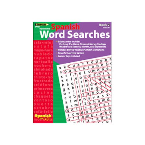 Edupress Spanish In A Flash Word Searches 2