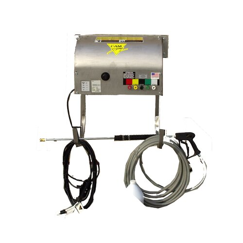 1500 PSI Cold Water Electric Wall Mount Pressure Washer with Mechanical Thermal Relief