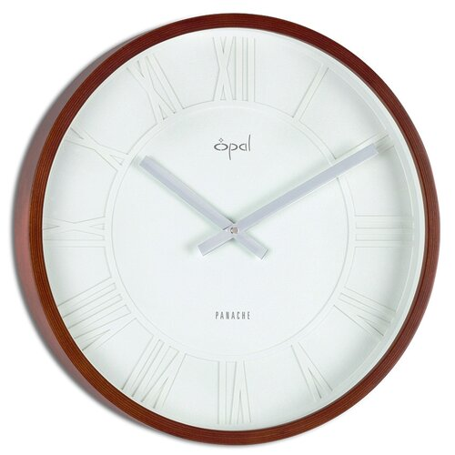 "Opal Luxury Time Products 15.36"" Round Wooden Case Wall Clock"