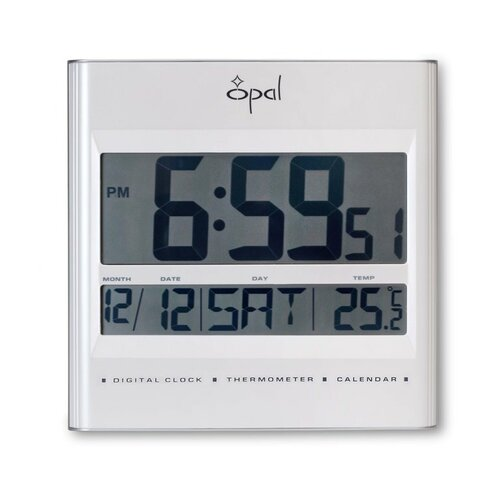 LCD Table Clock with Foldable Stand