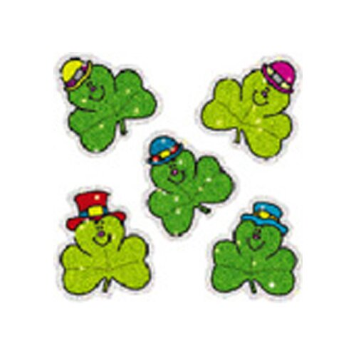 Frank Schaffer Publications/Carson Dellosa Publications Dazzle Stickers Shamrocks 75-pk
