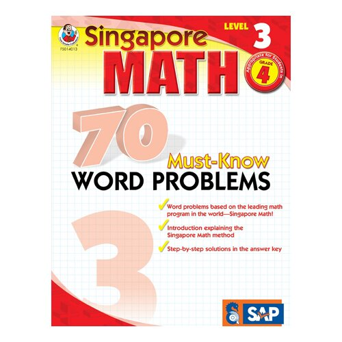 Frank Schaffer Publications/Carson Dellosa Publications 70 Must Know Word Problems Level 3