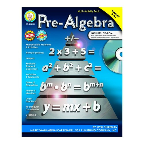 Frank Schaffer Publications/Carson Dellosa Publications Pre-algebra Activity Book Gr 5-8