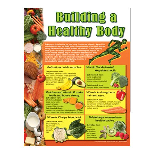 Frank Schaffer Publications/Carson Dellosa Publications Chartlets Building A Healthy Body