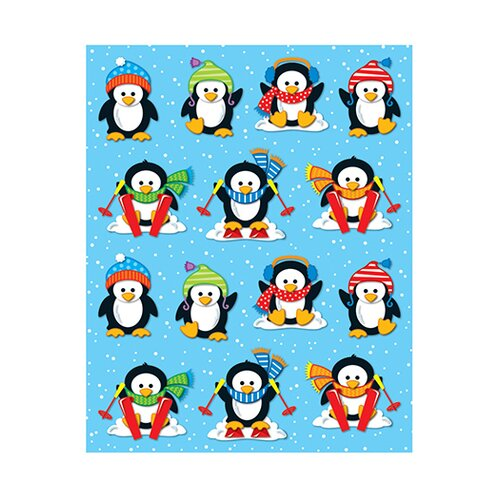 Frank Schaffer Publications/Carson Dellosa Publications Penguins Shape Stickers 84pk