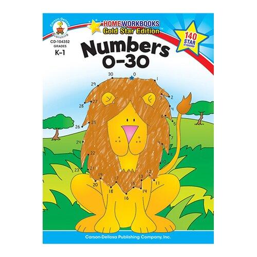 Frank Schaffer Publications/Carson Dellosa Publications Numbers 0-30 Home Workbook Gr K-1