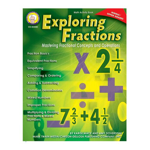 Frank Schaffer Publications/Carson Dellosa Publications Exploring Fractions Gr Middle