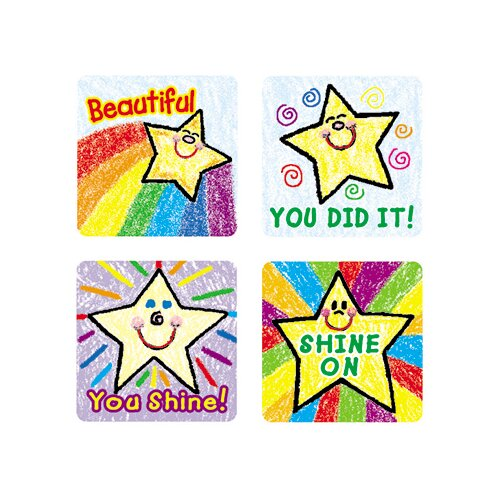 Frank Schaffer Publications/Carson Dellosa Publications Stickers Stars Kid-drawn 120/pk