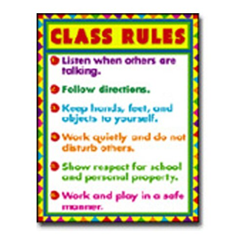 Frank Schaffer Publications/Carson Dellosa Publications Chartlet Class Rules 17 X 22