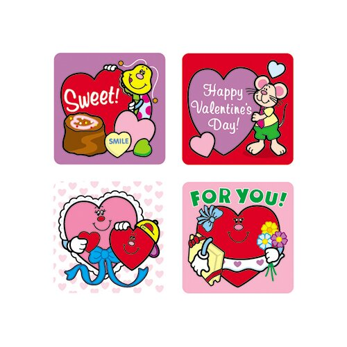 Frank Schaffer Publications/Carson Dellosa Publications Stickers Valentines Day 120/pk Acid
