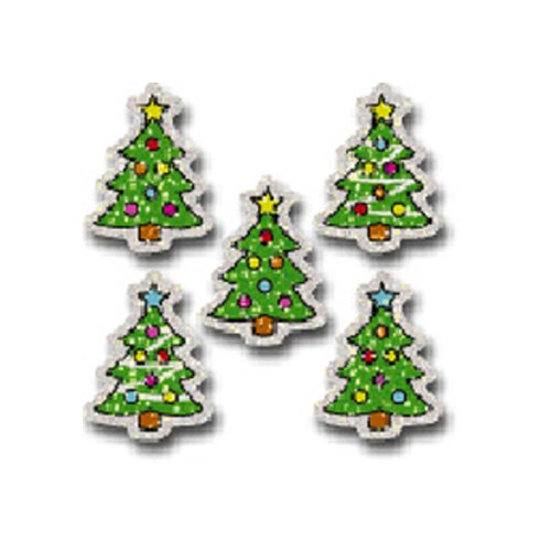 Frank Schaffer Publications/Carson Dellosa Publications Dazzle Stickers Christmas Trees 75
