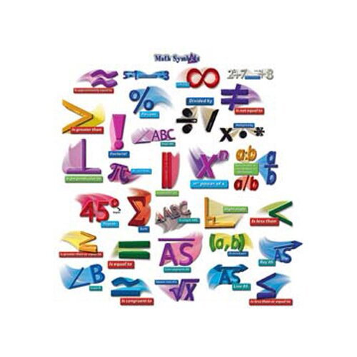 Frank Schaffer Publications/Carson Dellosa Publications Math Symbols Punch-outs Bb Sets