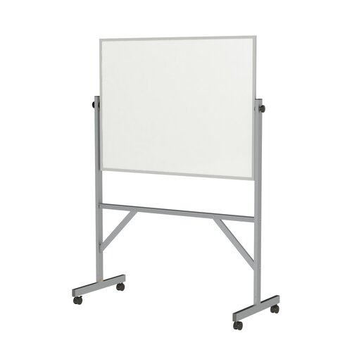 Ghent Aluminum Frame Reversible Acrylate Whiteboard - 4 Markers & Eraser
