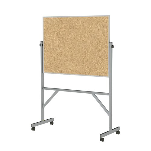 Ghent Aluminum Frame Reversible Natural Cork Bulletin Board