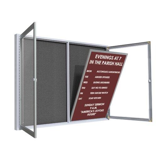Ghent Satin Aluminum Frame Flannel Letter Board Insert Panel