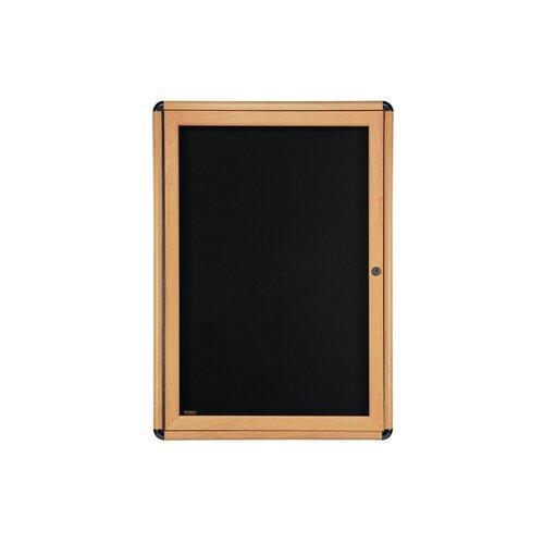 Ghent 1-Door Wood Look Ovation Fabric Bulletin Board