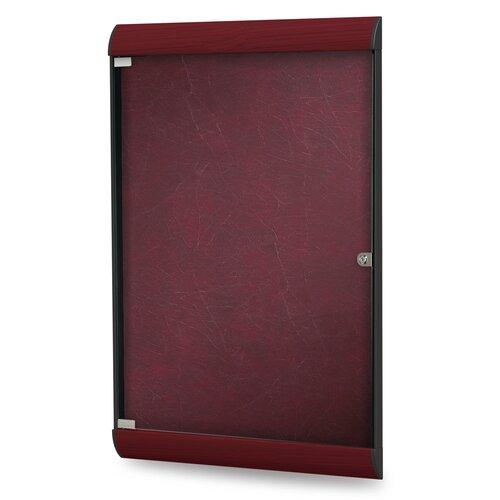 Ghent Silhouette Enclosed Wood Look PremaTak Bulletin Board