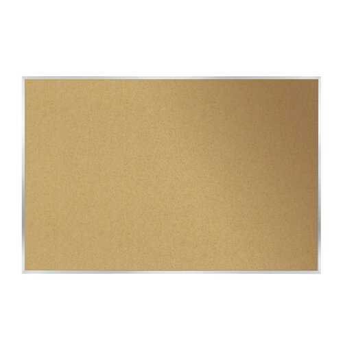 Ghent AK Series Aluminum Frame Natural Cork Bulletin Board