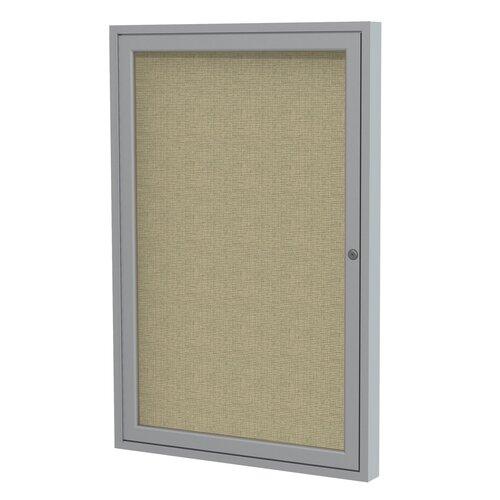 Ghent 1 Door Aluminum Frame Enclosed Fabric Bulletin Board