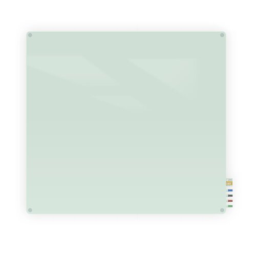 Ghent Harmony Glass Whiteboard - 4 Markers and Eraser - 4x4'