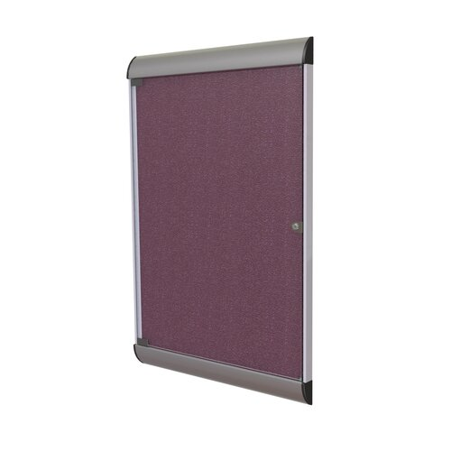 "Ghent Silhouette Enclosed 3' 6.13"" x 2' 3.75"" Bulletin Board"