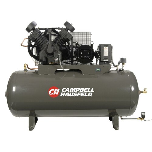 Campbell Hausfeld 120 Gallon 10 HP Two Stage 3 Phase Fully Packaged Air Compressor with Starter