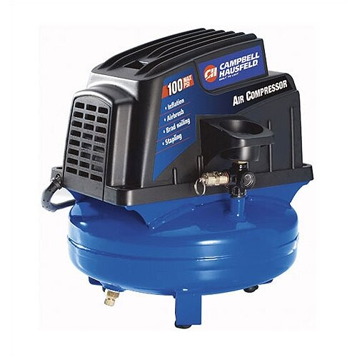 Campbell Hausfeld 1 Gallon Electric Oil Free Tank Mounted Air Compressor