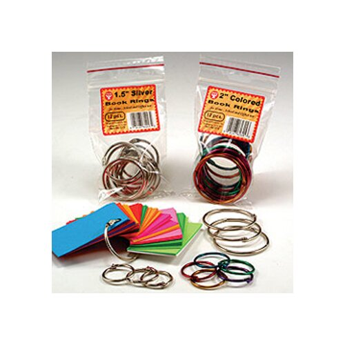 Hygloss Products Inc Book Rings 1 1/2 50 Per Pack