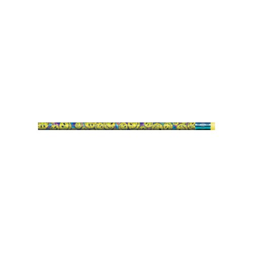 J.R. Moon Pencil Co. Pencils Smiley Bunch Asst 12/pk