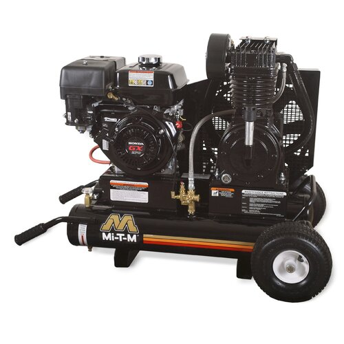 8 Gallon 2 Stage Wheelbarrow Air Compressor