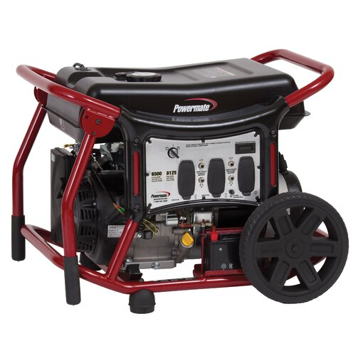 6,500 Watt Gas Generator with Recoil/Electric Start