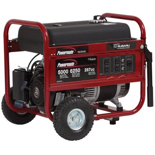 6,250 Watt Gasoline Generator with Suburu EX30 Recoil Start