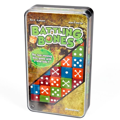 Pressman Toys Battling Bones Dice Board Game