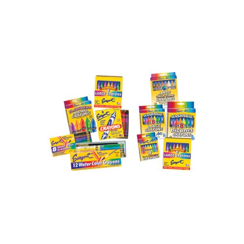 Sargent Art Inc Flatsiders No-roll Crayons 8 Count