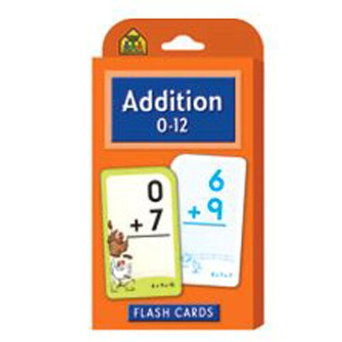 School Zone Publishing Addition 0-12 Flash Cards