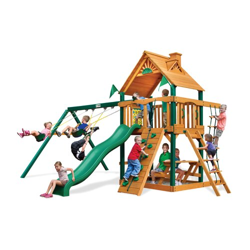 Chateau II with Amber Posts Cedar Swing Set