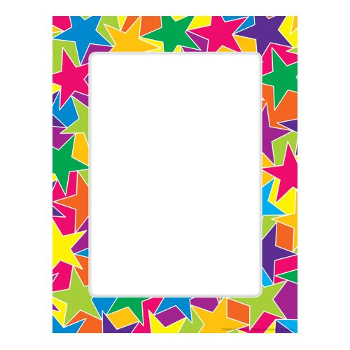 Teachers Friend Graphic Stars Printer Paper