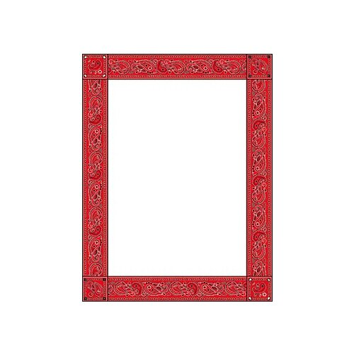 Teachers Friend Red Bandana Design Paper