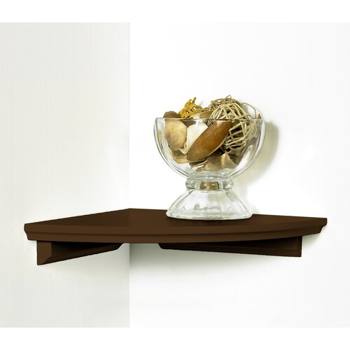 InPlace Decorative Wood Corner Shelf