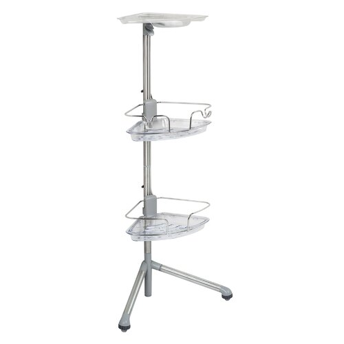 Oxo good grip slide and lock standing shower caddy - Bathroom corner caddy stainless steel ...