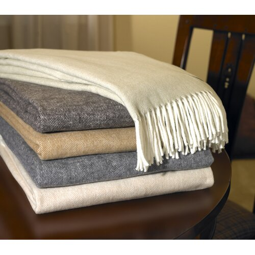 Lands Downunder Assiro Herringbone Cotton Throw